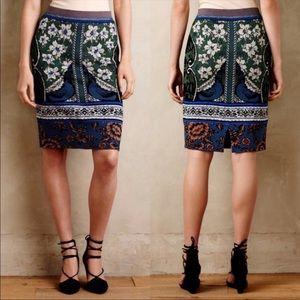 MOTH Wool Blend Knit Jacquard Floral Sweater Skirt